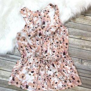 Lauren Conrad - Silk flower blouse